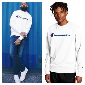 Champion Reverse Weave Big C Logo Sweatshirt L
